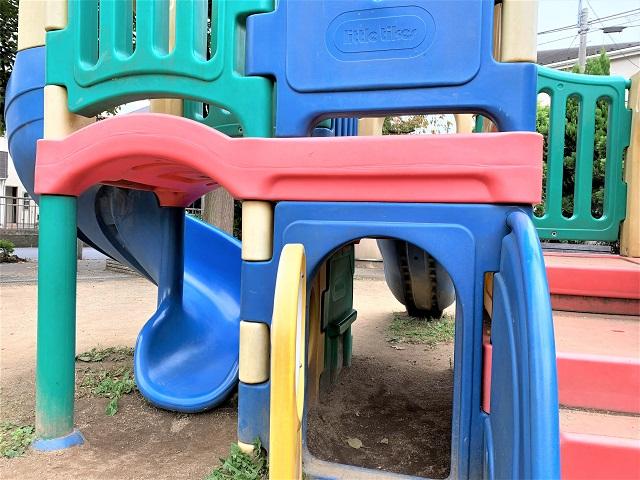 きんたろう公園遊具のアップ
