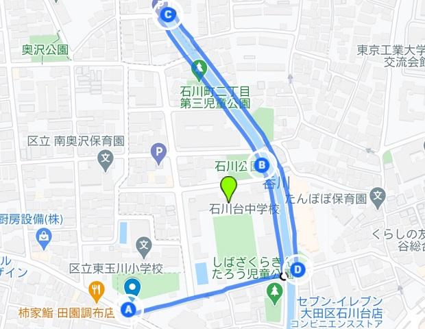 呑川緑道沿いのお散歩コース